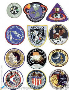 NASA Project Apollo Mission Patch Collection Set