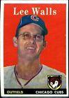 1958 Topps Lee Walls Chicago Cubs #66 Baseball Card