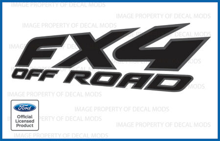 2008 Ford F150 FX4 Off Road Decals - FBLK offroad Stickers Truck 4x4 Black Gray