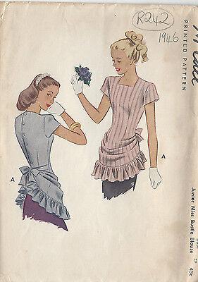 "1946 Vintage Sewing Pattern BLOUSE B29"" (R242)"