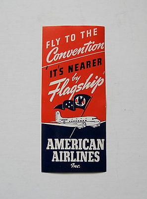 American Airlines Flagship Old Luggage Baggage Label - Old Prop Airplane
