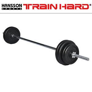TrainHard-80-KG-GUSS-Langhantel-Set-Hantelset-1-8m-Stange-Gewicht-Hantelscheiben