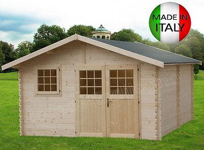 CASETTA IN DI LEGNO 437x439-34 mm BLOCKHAUS casette giardino porta attrezzi