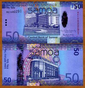 Western-Samoa-50-Tala-2008-2012-Hybrid-Polymer-P-New-UNC-Commemorative