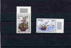 MONACO-fleurs-N-1597-et-1598-N-TTB