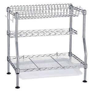 New-3-Tiers-Dish-Utensil-Drying-Rack-Dish-Drainer-Chrome-Kitchen-Dish-Holder