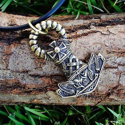 NORSE IRON CROSS THOR'S HAMMER Thor Thors Mjölnir Mjolnir Brass Pewter Pendant