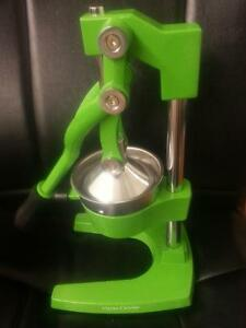 Green All Metal Manual Commercial Bar Restaurant Citrus press Orange Juicer New