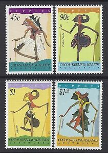 1994-COCOS-ISLANDS-PUPPETS-SET-OF-4-FINE-MINT-MUH-MNH