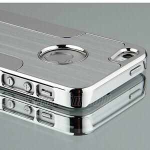 Silver-Luxury-Brushed-Aluminum-Chrome-Hard-Case-For-iPhone-5-5G-6th-Stylus-Film