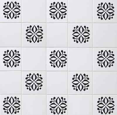 "Floral Decals / Transfers / Stickers for Kitchen, Bathroom For 6""x 6"" Tiles FL01"