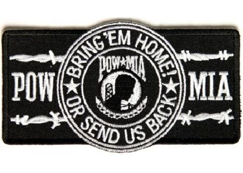 POW/MIA BARBWIRE BIKER PATCH