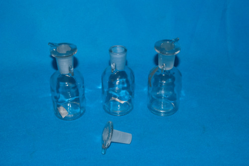 3 x 50ml Conical Glass Flask 4 Ink Storage, Tattoo Ink, Laborataory Use -UNIQUE