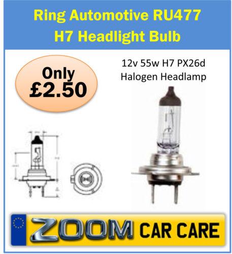477 H7 Halogen Car Headlight Bulb 12v 55w H7 PX26d Halogen Headlamp Ring RU477