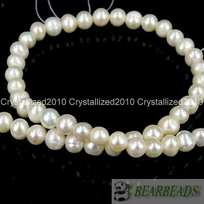 Natural White Freshwater Pearl Round Beads 5mm 6mm 7mm 8mm 9mm 10mm 11mm 17''