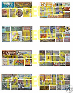 N-Scale-Ghost-Sign-Decals-MEGA-SHEET-4-Weather-Your-Buildings-amp-Structures
