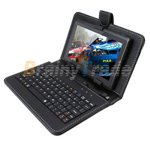 Universal-7-034-Black-Micro-USB-QWERT-Keyboard-Case-Stand-For-Tablet-PC-PAD-Android