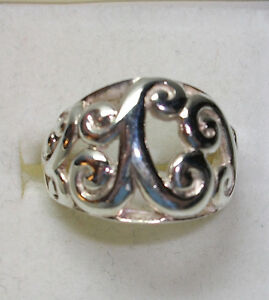 avon swirl ring sterling silver 925 smooth design size 7
