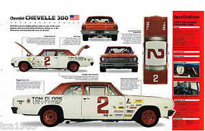 1965 Bobby Allison CHEVELLE 300 NASCAR Race Car IMP Brochure