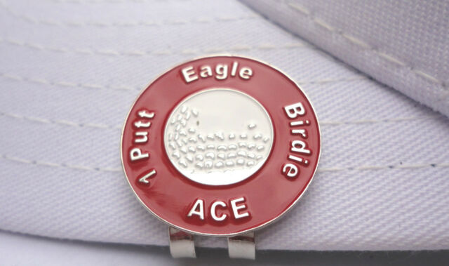 Great Expectations Red Golf Ball Marker - W/Bonus Magnetic Hat Clip
