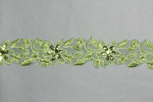 """Handmade Embroidered Corded beaded Edging Motifs trim 1 1//2 /"""" width 9 Col #6"""