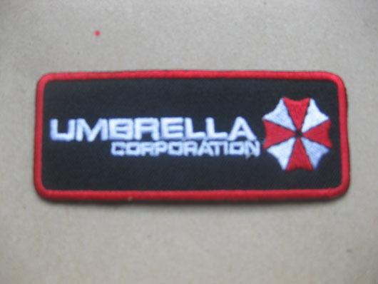 Umbrella CORP Umbrella CORP resident evil T-shirt Aufnäher Aufbügler 3.5x8.5 cm