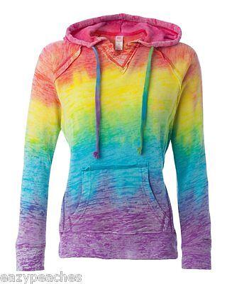 Weatherproof Ladies Edge w1162 V-notch Hoodie, Hooded Sweatshirt Womens S-XL 2XL