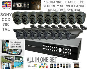 16 Ch Channel Eagle Eye Real Time Dvr Security Camera