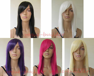 16-inch-Straight-Heat-resistant-Cosplay-Costume-Halloween-wig-hair-ALL-COLOR