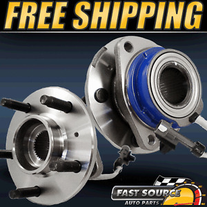 2-FRONT-LEFT-AND-RIGHT-CHEVY-BUICK-GM-2WD-5-LUG-W-ABS-NEW-WHEEL-HUB-BEARING