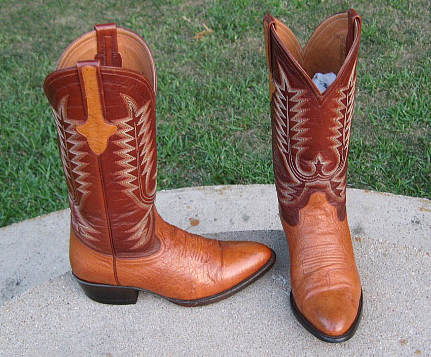 OSTRICH  COWGIRL BOOTS LADIES 6.5'D