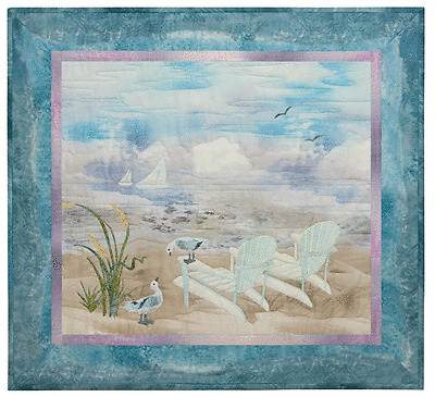 McKenna Ryan Quilt Pattern, Beach Walk, Holiday for Two (Block 1), DIY Quilting