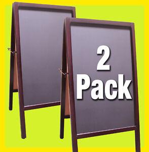2-PACK-Double-Side-Sidewalk-A-Frame-CHALKBOARD-Restaurant-Sign-Menu-Board