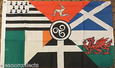 Celtic Nations Flag 2x3 Ireland Republican Irish Scottish Welsh Nationalist bnip