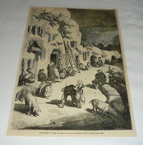1879-magazine-engraving-SCENE-IN-GROTTOES-OF-THE-GITANOS-SACRO-MONTE-SPAIN