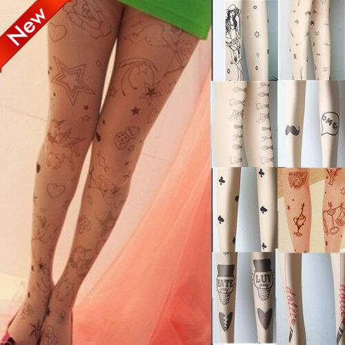 Whole Sale Stockings Leggings 30 Styles  Tattoo Temptation Sheer Pantyhose Tight