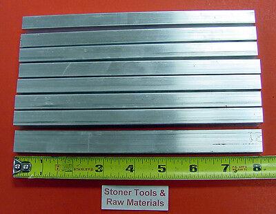 "8 Pieces 1/2"" X 3/4"" ALUMINUM FLAT BAR 8"" long .50"" 6061 T6511 Plate Mill Stock"