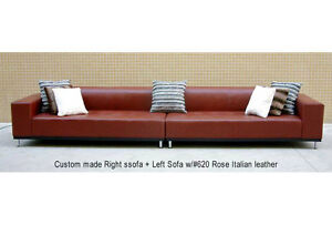 164 W New Modern Euro Design Red Leather Sofa S4709c Ebay