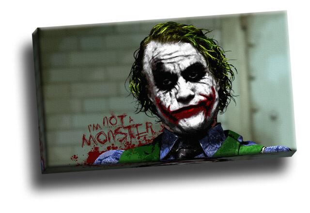 Joker Drawing Dark Knight Giclee Canvas Picture Movie Art