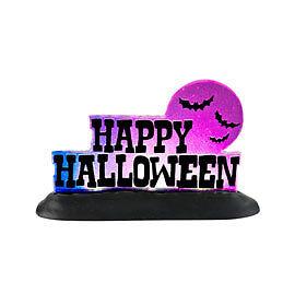 Dept 56 General Village Halloween HAPPY HALLOWEEN LIT SIGN New 2012 #4025407 NIB