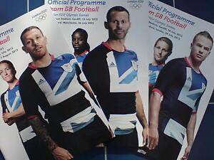 OLYMPIC GAMES LONDON 2012 FULL SET TEAM GB OFFICIAL FOOTBALL PROGRAMMES