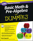 1001 Basic Math & Pre-Algebra Practice Problems For Dummies by Mark Zegarelli (Paperback, 2013)
