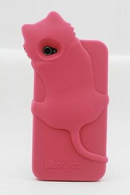 3D HELLO KITTY CAT SOFT SILICONE RUBBER CASE COVER FOR APPLE IPHONE 4 4S