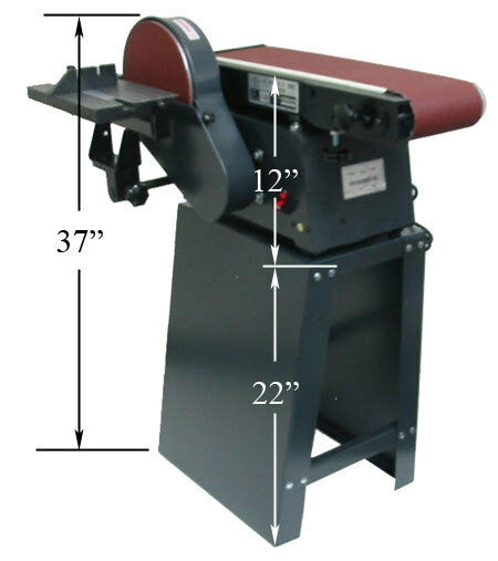 6 x 9 Disc Belt Vertical Horizontal Sander w/Stand