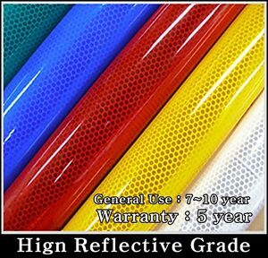 16ft/ White /REFLECTIVE Tape/Sheet/Film/Intensity High Grade/Vinyl/Adhesive/HIP
