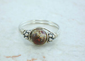 Sterling-Silver-Red-Poppy-Jasper-and-Bali-Bead-Ring