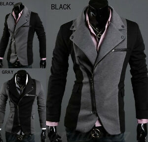 Mens-Casual-TOP-Design-Sexy-Slim-FIT-Blazers-Coats-Suit-Jackets-2-COLOR-FF1136