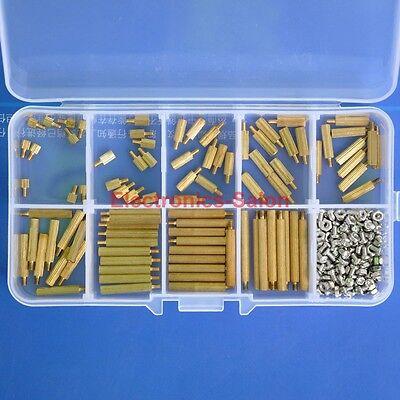 M2 Brass Standoff / Screw / Nut Assortment Kit, Male-Female.
