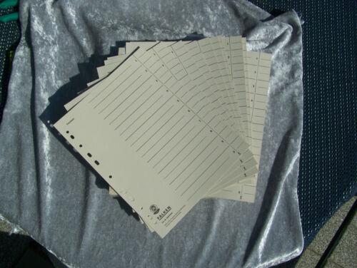 Trennblätter Register Blätter Karton für A4 Ordner umweltfreundlich # 24x30