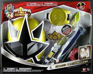 POWER RANGERS SAMURAI GOLD RANGER LIGHT TRAINING GEAR SET ...  Power Rangers Samurai Gold Ranger Barracuda Blade Toy